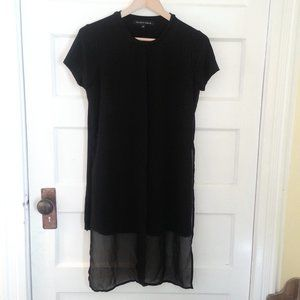 Willow & Thread black top tunic w/overlay - size S